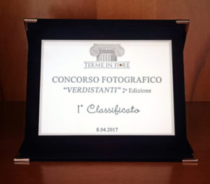 1st place plaque - Verdistanti